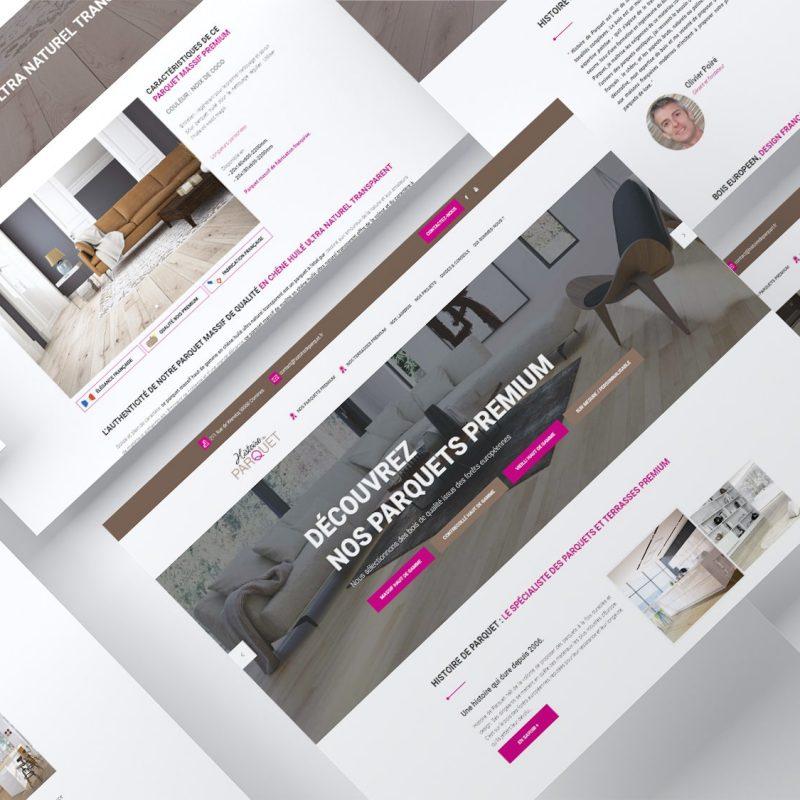 website_mockup_multipages_histoire_de_parquet